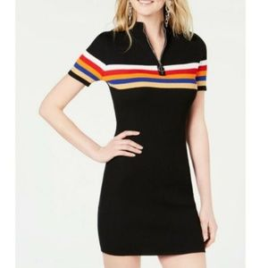 Crave Fame by Almost Famous Black Rainbow Bodycon